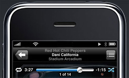 Detalle del diseño de la interfaz del iPhone